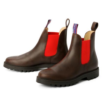 blue heeler Damenschuh | Boots / JACKAROO braun | rot