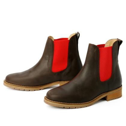 blue heeler Damenschuh | Boots / JOSSLYN braun | rot