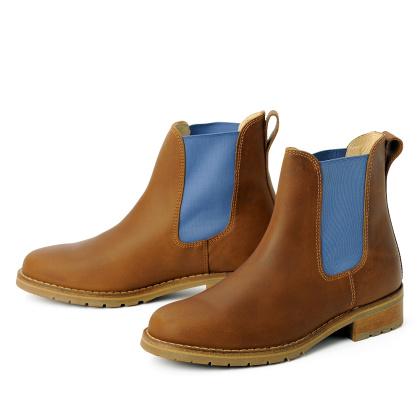 blue heeler Damenschuh | Boots / JOSSLYN cognac | himmelblau
