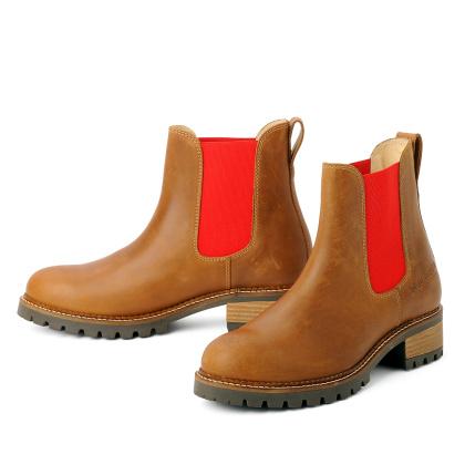 blue heeler Damenschuh | Boots / PASH cognac | red