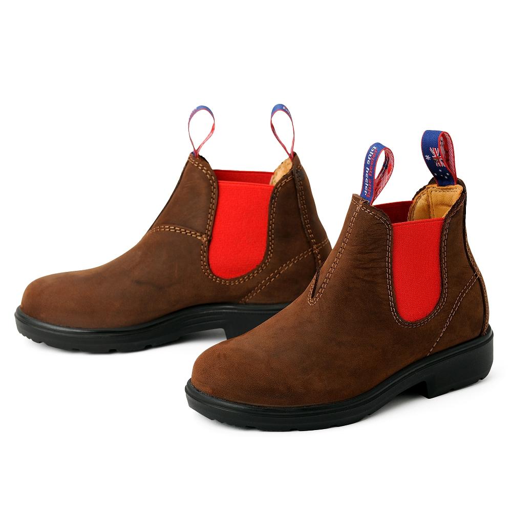 blue heeler Kinderschuh | Boots / NUMBAT nougat | rot