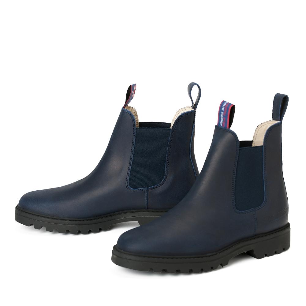 damen boots stiefeletten chelsea blau meryl