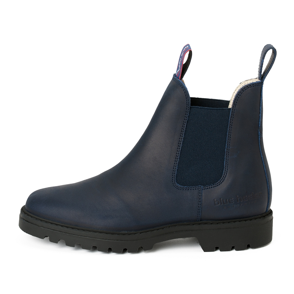 Damen Boots Stiefeletten Chelsea Blau Meryl&Matt Leder Rutschfest 03