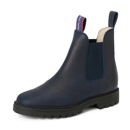 Damen Boots Stiefeletten Chelsea Blau Meryl&Matt Leder Rutschfest 04