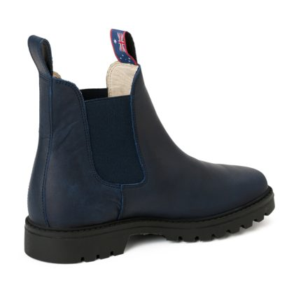 Damen Boots Stiefeletten Chelsea Blau Meryl&Matt Leder Rutschfest 05