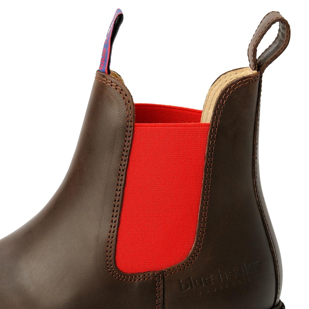 huge selection of ae047 5de1b damen-boots-stiefeletten-chelsea-braun-rot-jackaroo-leder ...