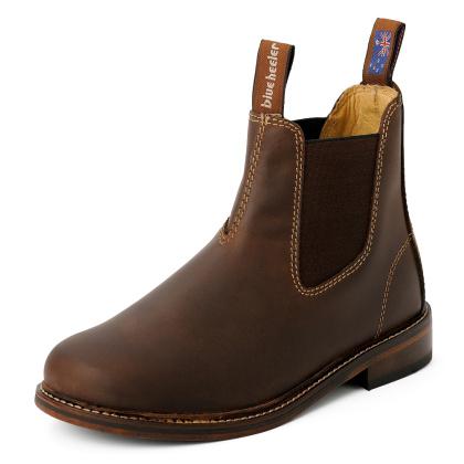 Damen Boots Stiefeletten Chelsea Braun Windsor Handgenaeht Ledersohle 04