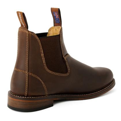 Damen Boots Stiefeletten Chelsea Braun Windsor Handgenaeht Ledersohle 05