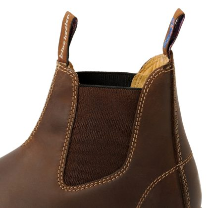 Damen Boots Stiefeletten Chelsea Braun Windsor Handgenaeht Ledersohle 10