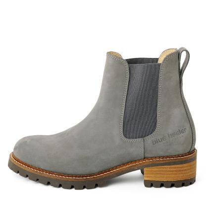 Damen Boots Stiefeletten Chelsea Grau Pash Leder Rutschfest 03 Copy