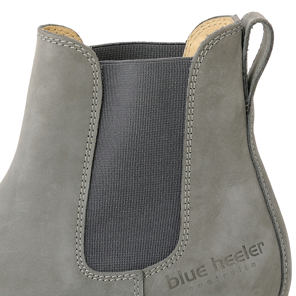 Damen Boots Stiefeletten Chelsea Grau Pash Leder Rutschfest 10