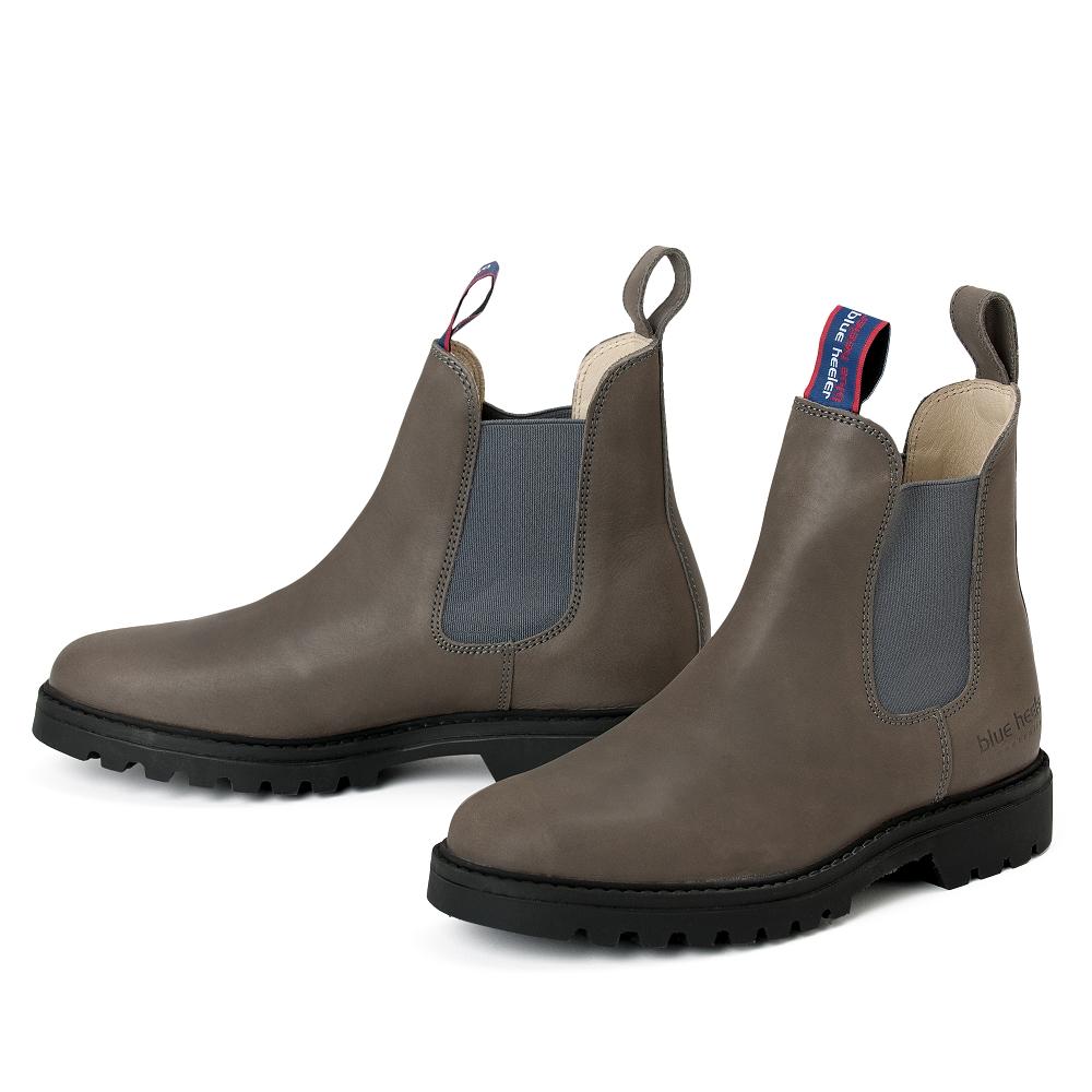 Damen Boots Stiefeletten Chelsea Grau Grafite Meryl Leder Rutschfest 00