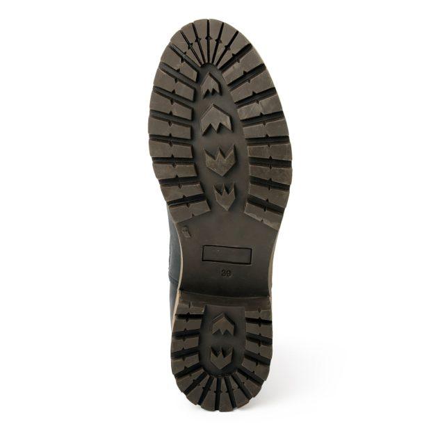 damen boots stiefeletten chelsea schwarz pash leder rutschfest 01