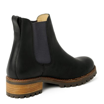 damen boots stiefeletten chelsea schwarz grafite pash leder rutschfest 05