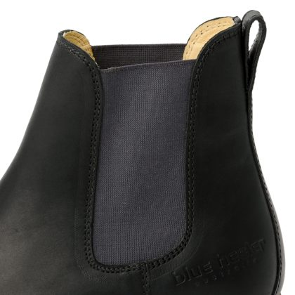 damen boots stiefeletten chelsea schwarz grafite pash leder rutschfest 10