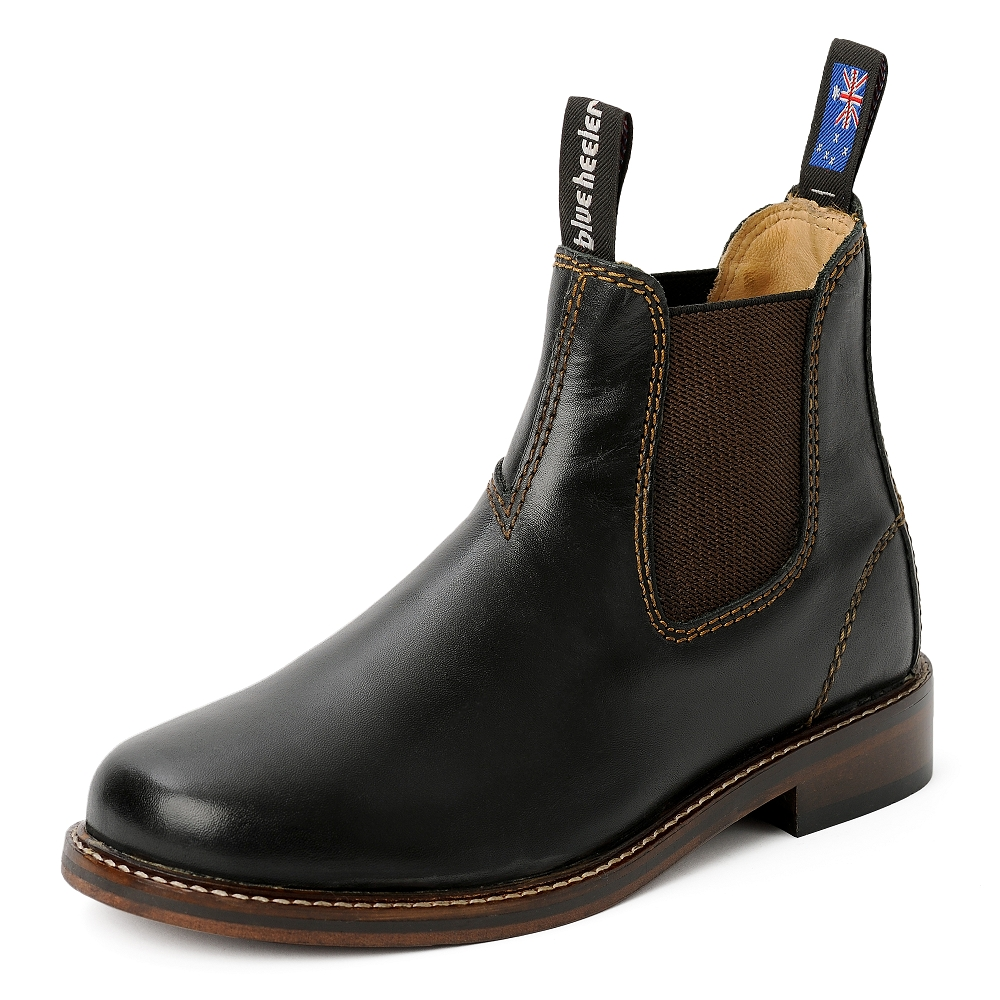 Damen Boots Stiefeletten Chelsea Schwarz Windsor Handgenaeht Ledersohle 04