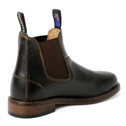 Damen Boots Stiefeletten Chelsea Schwarz Windsor Handgenaeht Ledersohle 05