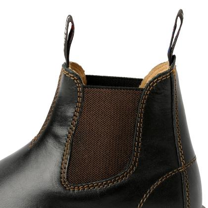 Damen Boots Stiefeletten Chelsea Schwarz Windsor Handgenaeht Ledersohle 10