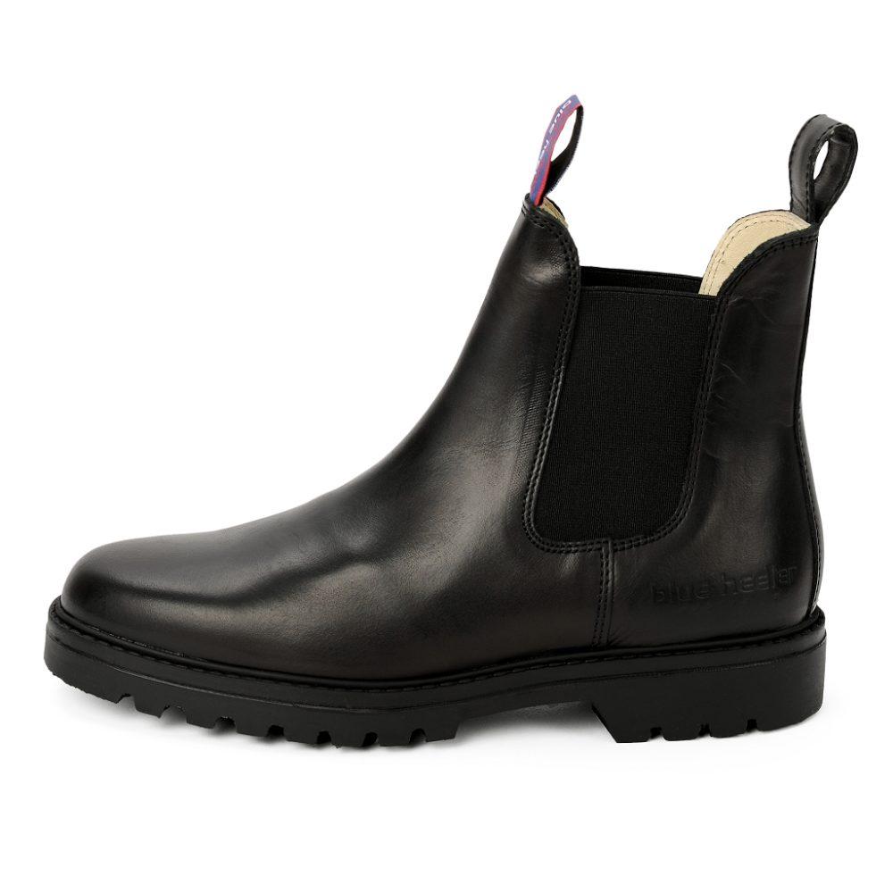 Damen Boots Stiefeletten Schwarz Jackaroo Leder Rutschfest 03
