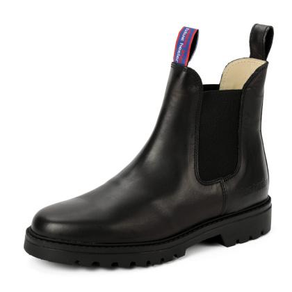 Damen Boots Stiefeletten Schwarz Jackaroo Leder Rutschfest 04
