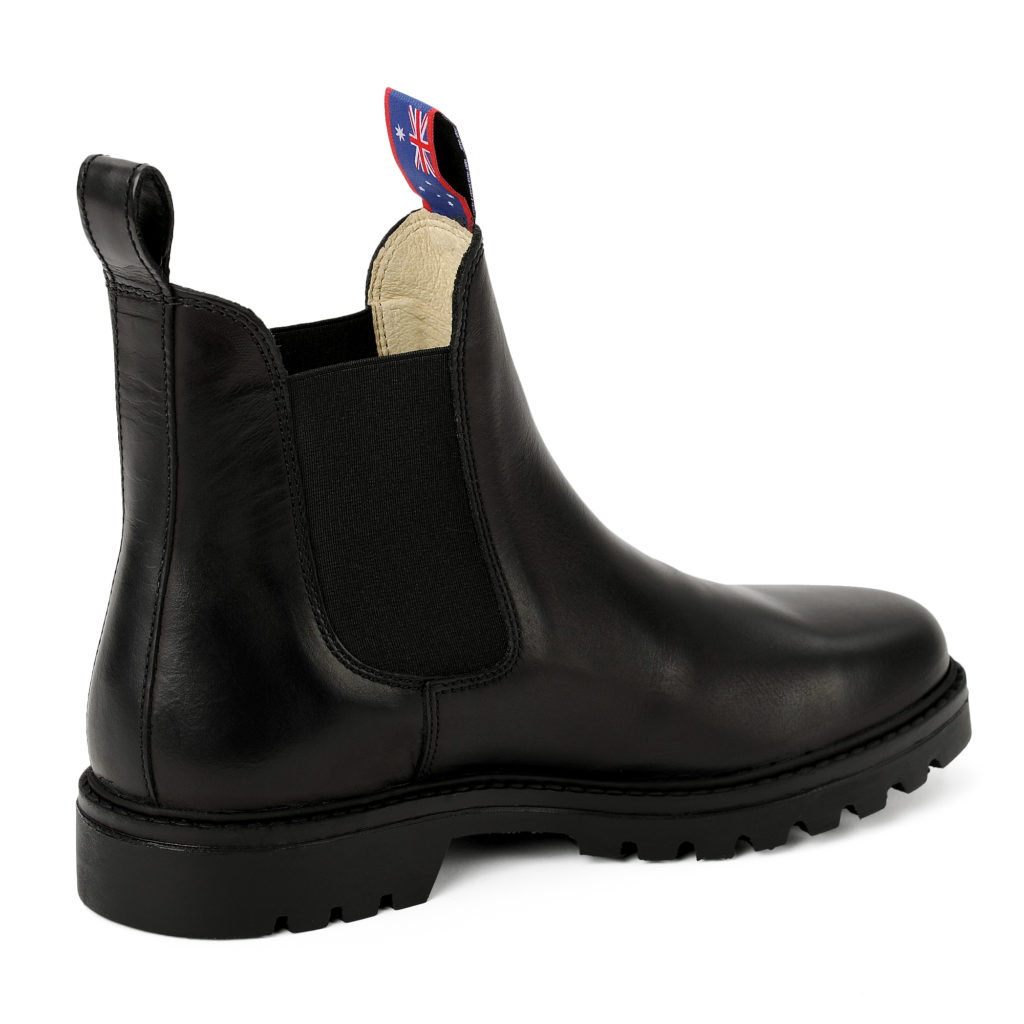 Damen Boots Stiefeletten Schwarz Jackaroo Leder Rutschfest 05