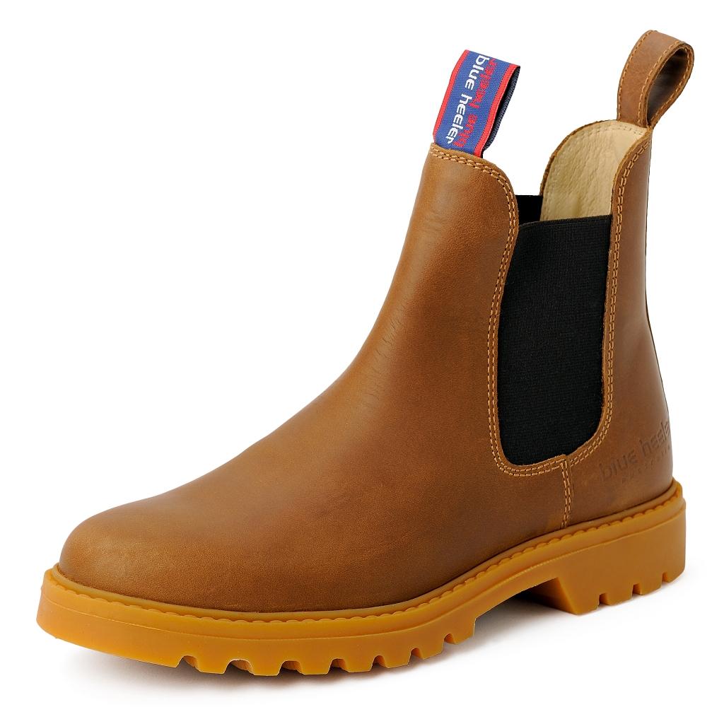 Boots Stiefeletten Sydney Leder Herren Cognac Chelsea OkXZuPi