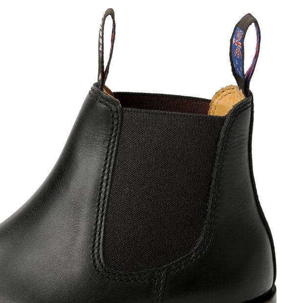 Herren Boots Stiefeletten Chelsea Schwarz Newman Handgenaeht Ledersohle 10