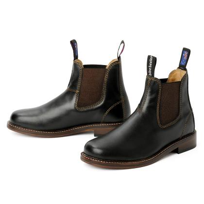 Herren Boots Stiefeletten Chelsea Schwarz Windsor Handgenaeht Ledersohle