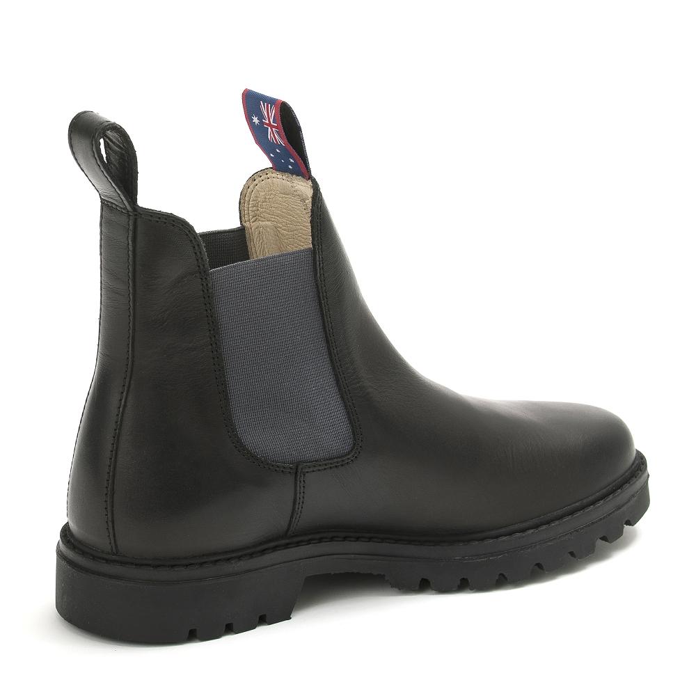 Schwarz Stiefeletten Jackaroo Grau Boots Leder Herren DIY2HE9W