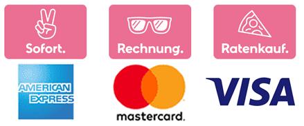 Logos Zahlungsarten mit KLARNA.
