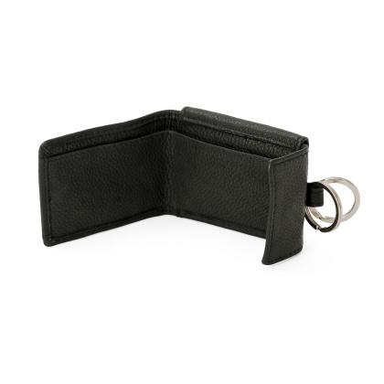 Portemonnaie Mit Schluesselring Schwarz Leder 21