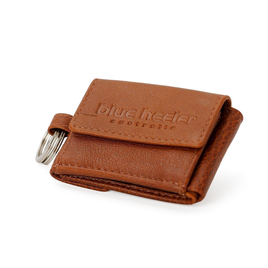 Portemonnaie Mit Schluesselring Braun Leder 20