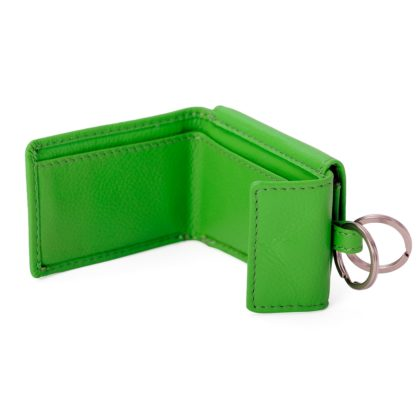 Portemonnaie mit Schluesselring Hellgruen Leder 21