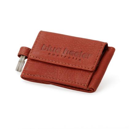 Portemonnaie mit Schluesselring Weinrot Leder 20