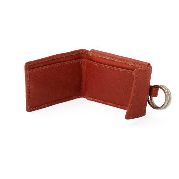 Portemonnaie Mit Schluesselring Weinrot Leder 21